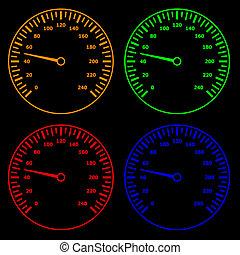 compteurs vitesse, vecteur