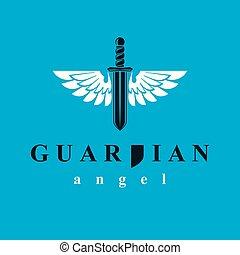 compuesto, alas, gráfico, metáfora, ángel, libertad,...