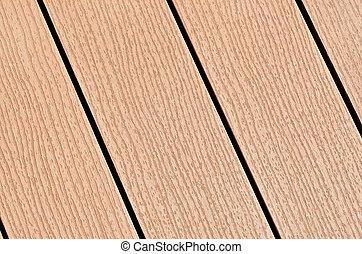 compuesto, madera abordar