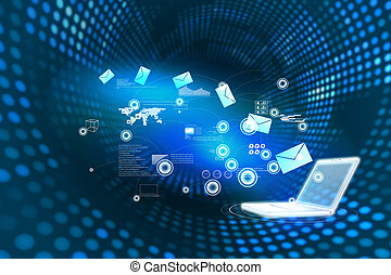 compuesto, plano de fondo, comunicación, email, imagen