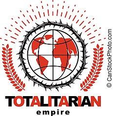 compuesto, revolución, emblema, socialism, utilizar, globo,...