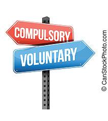 compulsory, vrijwillig, wegaanduiding
