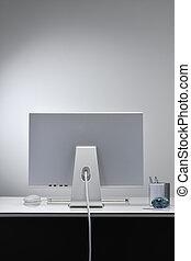 computador, -, 모니터 구실을 하다