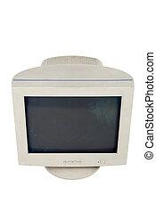 computador, antigas, monitor