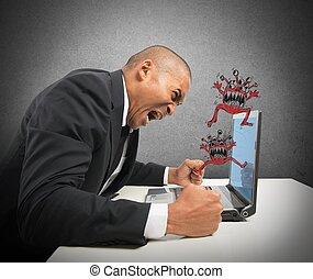computador, batido