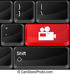 computador, botão, câmera