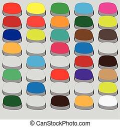 computador, botão, cores