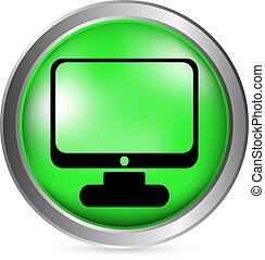 computador, botão