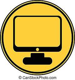 computador, button.