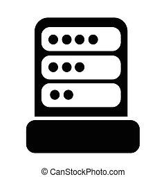 computador, desenho, servidor, ilustração, ícone