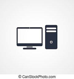 computador desktop, ícone