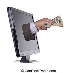 computador, dinheiro