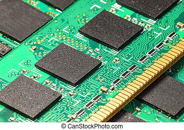 computador, dram, memória, modules