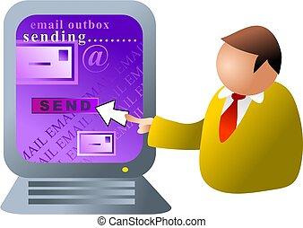 computador, email