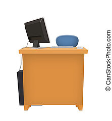 computador, escritório