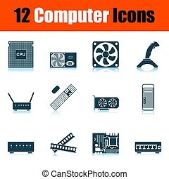 computador, jogo, ícone
