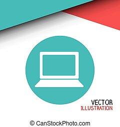 computador laptop, desenho