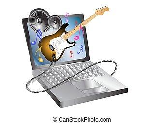 computador, música