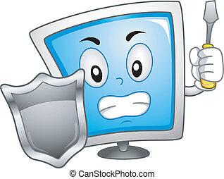computador, mascote