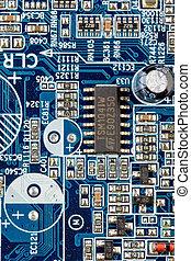 computador, motherboard, closeup