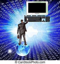 computador novo, tecnologia internet