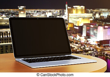 computador portatil, blanco