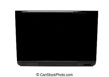 computador portatil, blanco, vista, aislado, espalda