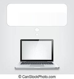 computador portatil, concepto