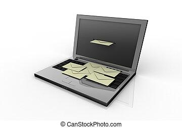 computador portatil, correo