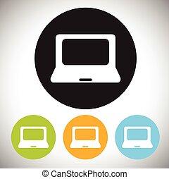 computador portatil, icono
