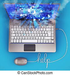 computador portatil, ilustrador, 3d