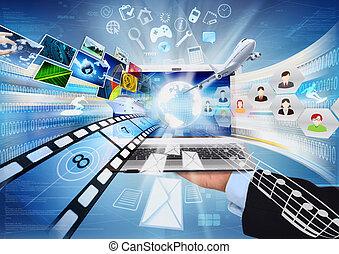 computador portatil, internet