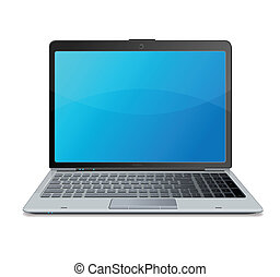 computador portatil, mail., vector.