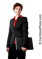 computador portatil, mujer