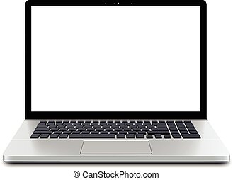 computador portatil, pantalla, vacío
