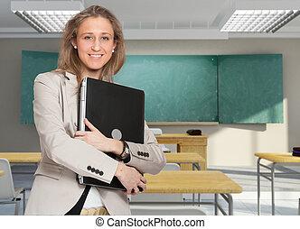 computador portatil, profesor