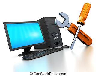 computador, serviço