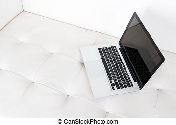 computador, sofá