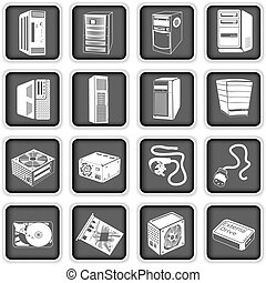 computadora, 5, iconos