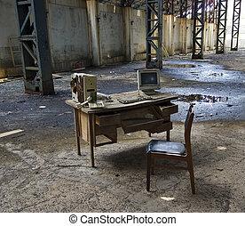 computadora, abandonado