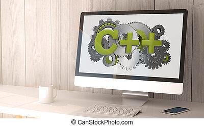 computadora, c++, escritorio