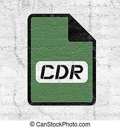 computadora, cdr, archivo, icono