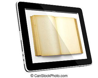 computadora computadora personal, libro, tableta