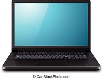 computadora de computadora portátil, 3d