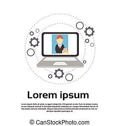 computadora de computadora portátil, social, red, comunicación, conexión de internet