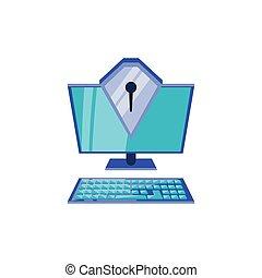computadora de escritorio, seguro, protector