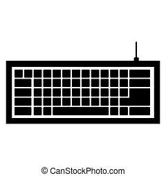 computadora de teclado, negro, icono