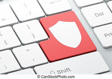 computadora de teclado, protector, concept:, intimidad