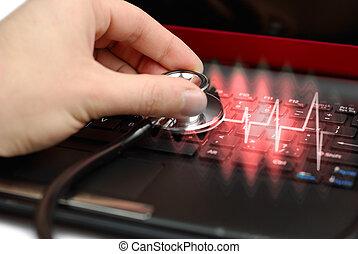 computadora, diagnóstico