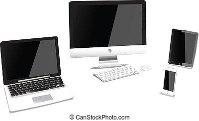 computadora, dispositivo, producto
